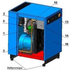 Винтовой компрессор без контроллера ВК7-8(10/15)-270